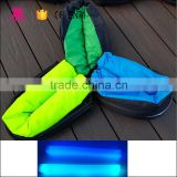 210T ripstop Nylon Waterproof Fast Inflatable Air Banana and Square Sleeping Bag for camping