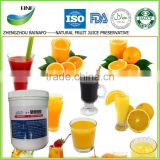 2016 Natural ISO/FDA/HALAL preservatives for fruit juice/orange/pineapple /mango/blueberry/kiwi/waxberry/pear juice