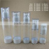 30ml empty plastic dual chamber airless bottle for cosmetic use
