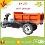 three wheel adult mini howo dump truck price/trade assurance suppliers mini track dumper/electric man diesel dump truck price