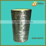 popular luxury plated striped silver vase