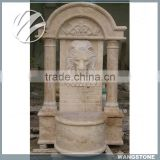 Garden decorative hand carved lion stone water fountain
