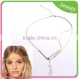 Fashion Bohemian Women Metal Head Chain Jewelry Shell Pendant Headband Piece Hair band