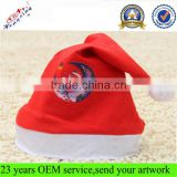 Custom Printing Christmas Hat Plush Christmas Hat in Stocks With Polar Fleece