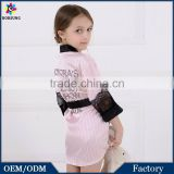 Baby Pink Mother And Daughter Family Dress 3\4 Sleeve Matching Satin Strips Family Robe Pajamas Frock Designs For cutting