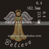 Angel with wings rhinestone heat transfer design