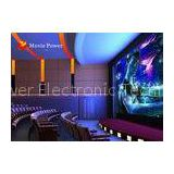 Fog Smell Fire Imax 4D Home Theater 4D Dynamic Cinema With Black Vibration Chairs