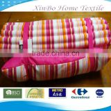 2013 Folded Waterproof Red Stripe Cool Beach Mat with Pillow in Various Colors