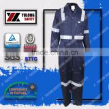 Factory Hot Sale Safety EN14116 100% Cotton Fire Fighting Material Coverall for Oil and Gas