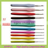 11Sizes Soft Handle Knitting Knit Needle Aluminum Crochet Hook Set With Case