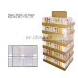 promotion cardboard display shelf supermarket bread display shelf