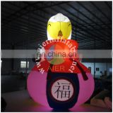 4mH sheeps of lovely inflatable Cartoon mascot for sale