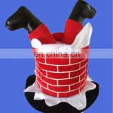 Hot selling adult Mens Plush Santa Chimney Hat christmas hat