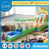 Commercial used slide for sale floating water park inflatable castle China factory