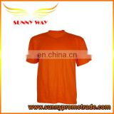 Promotional Red color crew neck T shirt for men
