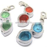 Colour Glasses Pendant Watch with Keyring