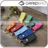 high quality genuine goat skin leather key accessories key chain parts key ring for gifts