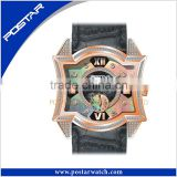 Original New Arrival Fashional Watch Quartz Wrist Watch with Genuine Leather Band and Square Dial