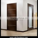 DO-093 Commerical MDF Door With Stainless Steel Decorative