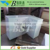 Customized wooden cash counter for retail store furniture