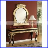 Luxury Hall Resin Console Table with Mirror S-1804B