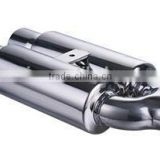 Top quality polished stainless steel universal muffler tip silencer exhaust muffler