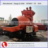 rotational drum mobile concrete mixer with pump