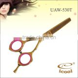 UAW-530T SUS440C Stainless Steel Professional Hairdressing Scissors Thinners Barber best hair cutting scissors