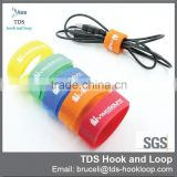 Printed custom logo hook and loop colorful cable strap