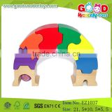 Popular Colorful Bridge Toys Wooden Blocks Puzzle Child Playing Toys