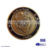 replica commemorative coin Stamping imitation gold map of the world badge gold-plated metal coin