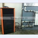 water heating stove and pellet stove with boiler