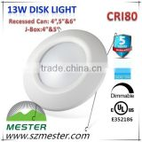 Energy Star UL cUL listed 800lm 13w 4inch 5inch 6inch led disk lamp led Disc Light