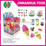 big ice cream corn toy with candy,toy with bubble gum,toy with popping candy