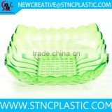 clear dry fruit plastic plate in square shape