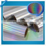 transparent 25um PET/PVC holographic film, laser packaging film, for lamination and printing