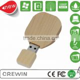 Wood usb flash drive with box customized logo print