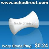 Fashion jewelry supplier, body piercing jewelry plug made of ivory stone, price starts from US $ 0.24 per piece