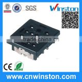 PY-14 General Miniature Black Color 300V 7A 14 Pins Electro-magnetic Industrial Relay Socket with CE