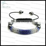 Fashion gradient color bar shamballa bracelet