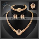 wholesale gold plated colored gemstone jewelry set for women