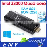 New Windows 10 TV Stick Intel Quad Core Cherry Trail Z8300 TV Dongle 2GB 32GB Android App Support Intel TV Dongle