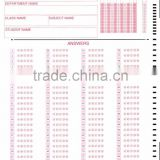OMR answer sheet/info form/OMR testing paper--provide OMR sheet designning and printing service