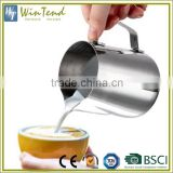 Steaming coffe latte 350ml 450ml 1000ml easy clean stainless steel milk frothing pitcher