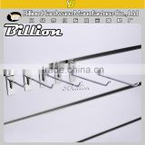 High quality metal chrome slatwall steel wire hook for display board supermarket hanging hook