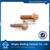 High strength quality yellow zinc plated slip bolts flange China manufacturers suppliers exporters
