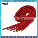 piece dye quality custom color 5mm round cotton cord with metal aglets
