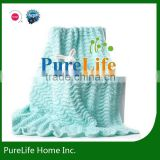 SZPLH Bright color wave design knit baby blanket throw