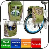 2015 wholesale high quality bicycle bags panniers two people waterproof picnic bag travel bike bag