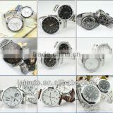 2013 hot sales hight qualtiy cheaper alloy plating watch .stainless steel pairt watch,leather couple watch with pc movt